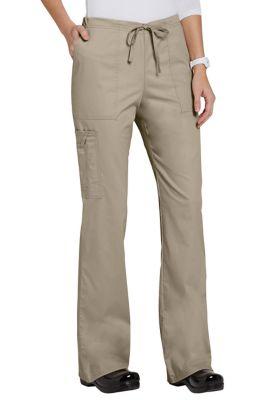 Cherokee Workwear Core Stretch Cargo Scrub Pant - Khaki - M