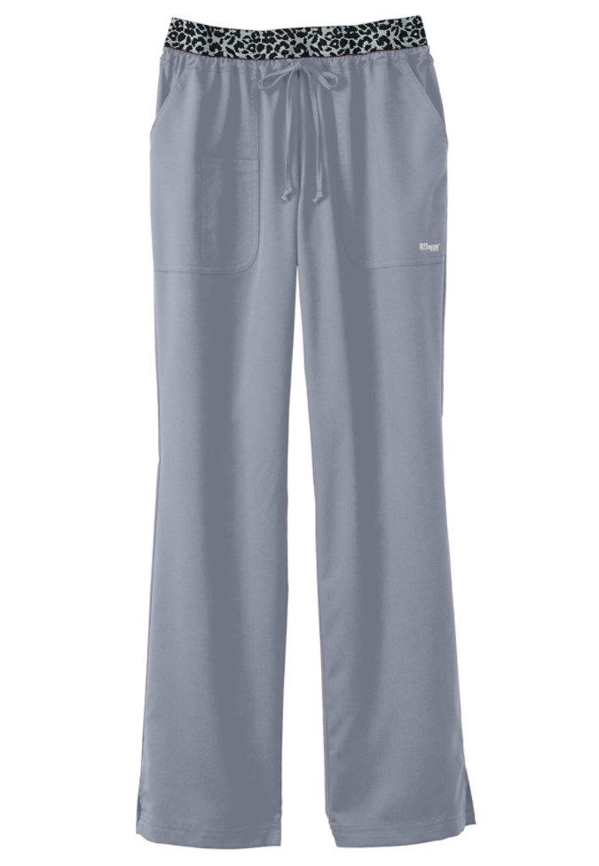 Greys Anatomy  low rise leopard waist scrub pant.