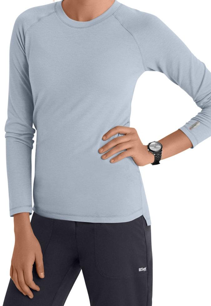 Greys Anatomy Active Raglan long sleeve underscrub tee.
