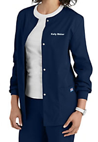 Cherokee Workwear cardigan scrub jacket.
