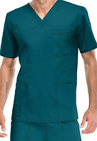 Cherokee Workwear Core Stretch unisex scrub top.