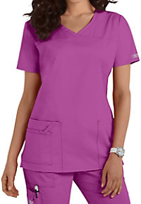 Cherokee Workwear Core Stretch shaped v-neck scrub top.