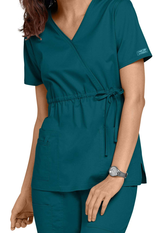 Cherokee Workwear Core Stretch Empire Wrap Scrub Top