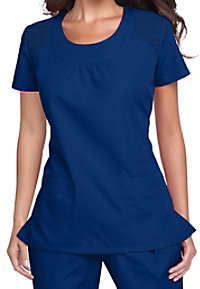 Cherokee Workwear scoop neck scrub top.