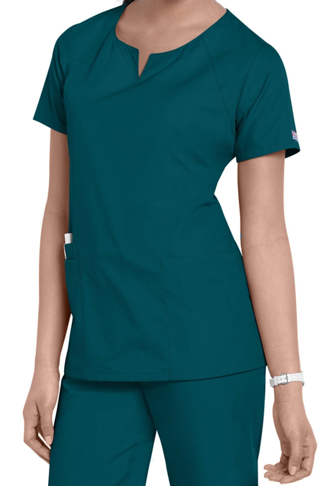 Cherokee Workwear 4 Pocket Scoop Neck Scrub Top