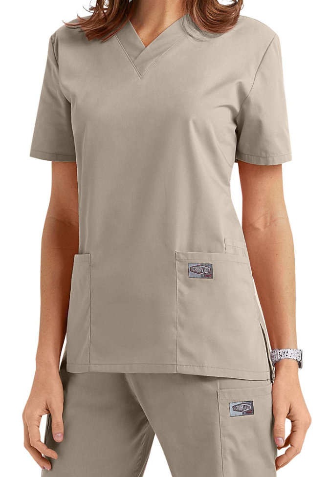 ScrubZone classic v-neck scrub top.