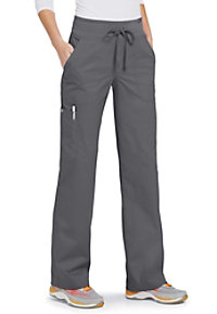 Koi Morgan 5-pocket scrub pants.