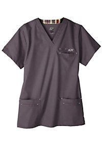 IguanaMed Mens Icon v-neck scrub top.