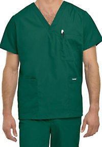 Landau Mens 5-pocket scrub top.