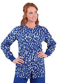 Landau Uniforms Fingerprint Dot print scrub jacket.