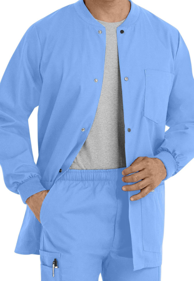 Landau Mens warm-up scrub jacket.