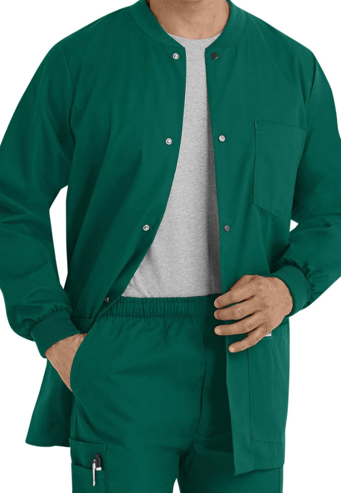Landau Mens warm-up scrub jacket.