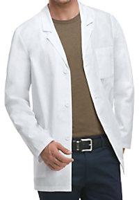 Dickies Professional Whites men's 31 inch consultation lab coat.