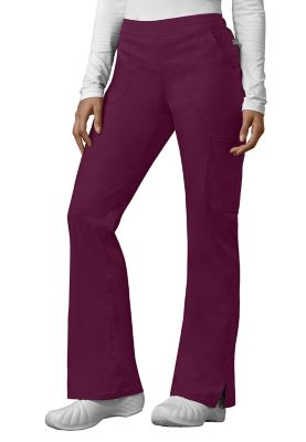 Dickies EDS Signature Stretch Flare Leg Scrub Pants With Certainty - Wine - TM