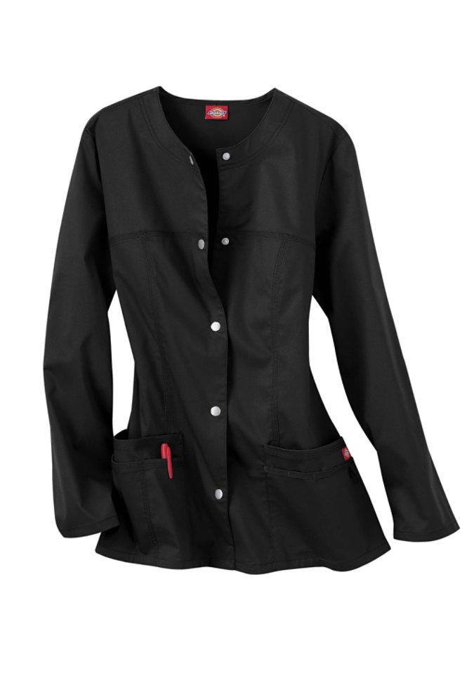 Dickies Gen Flex Youtility round neck scrub jacket.