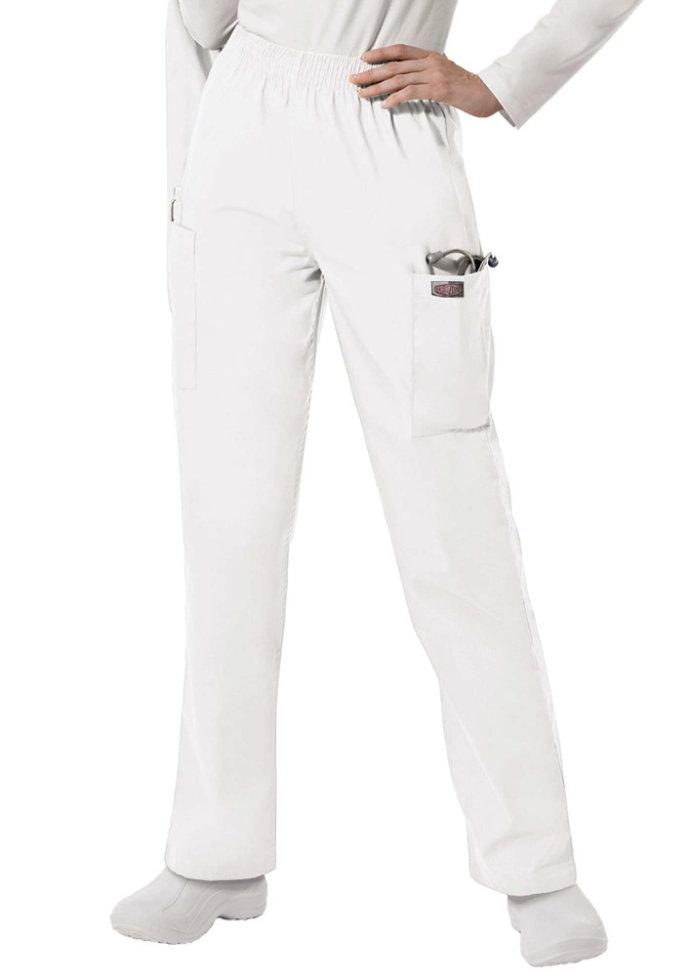 ScrubZone elastic waist cargo scrub pants.