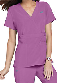 Med Couture Gold Milan crossover v-neck scrub top.