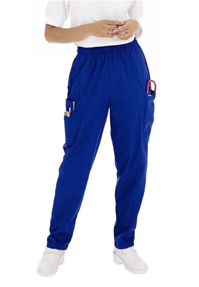 Landau 3-pocket ladies cargo scrub pants.