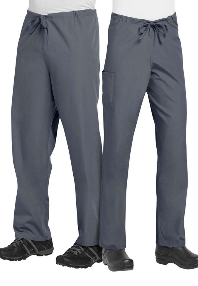 ScrubZone unisex drawstring scrub pants.