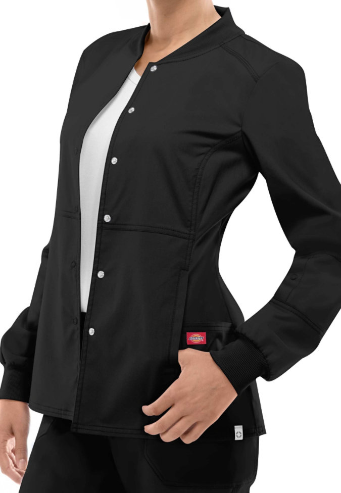 Dickies Eds Signature Stretch Snap Front Scrub Jacket With