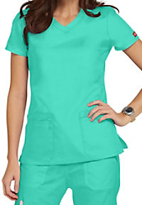 Dickies EDS Signature junior fit v-neck scrub top
