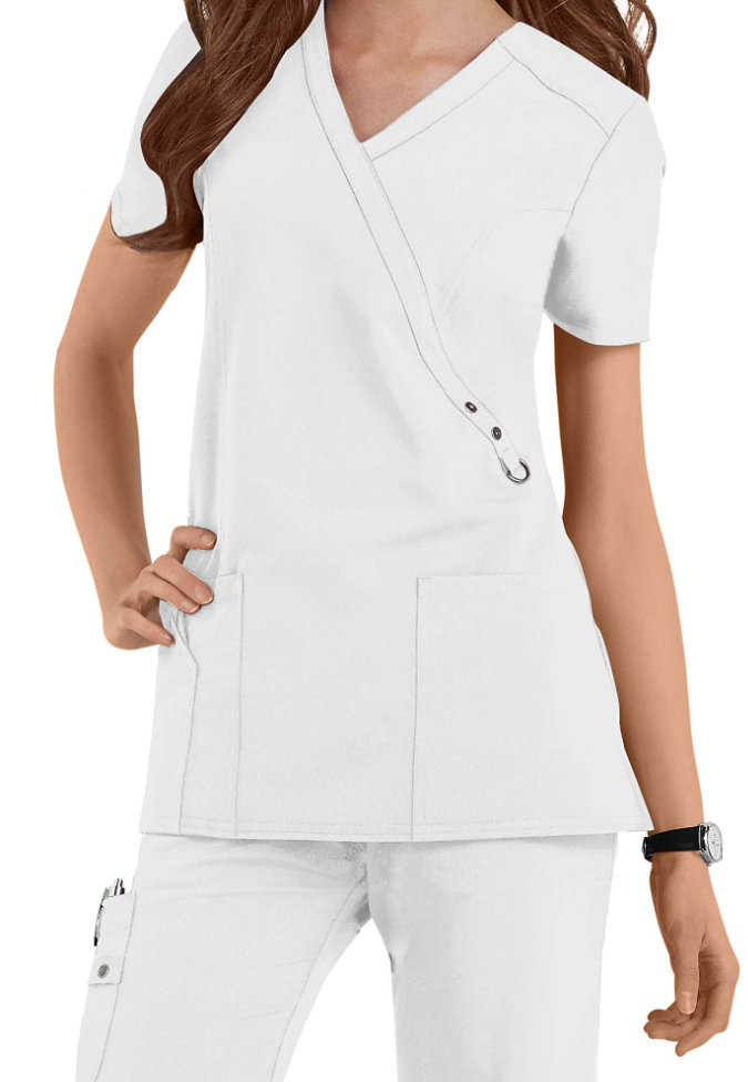 Dickies Xtreme Stretch crossover scrub top.
