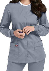 Dickies EDS Signature snap front scrub jacket.