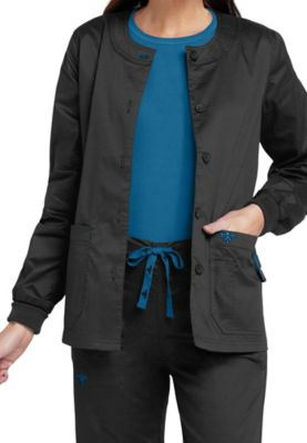Med Couture warm-up scrub jacket. - Black/pacific - M 8655