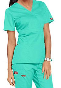 Dickies EDS signature missy fit mock wrap scrub top