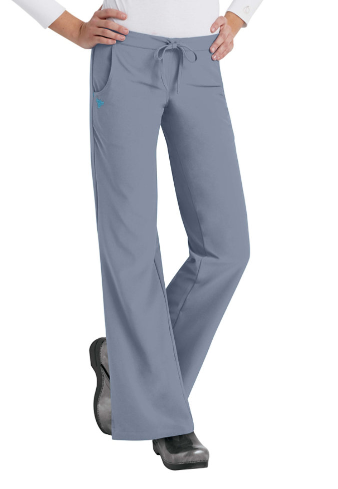 Med Couture Gold flare-leg pant.