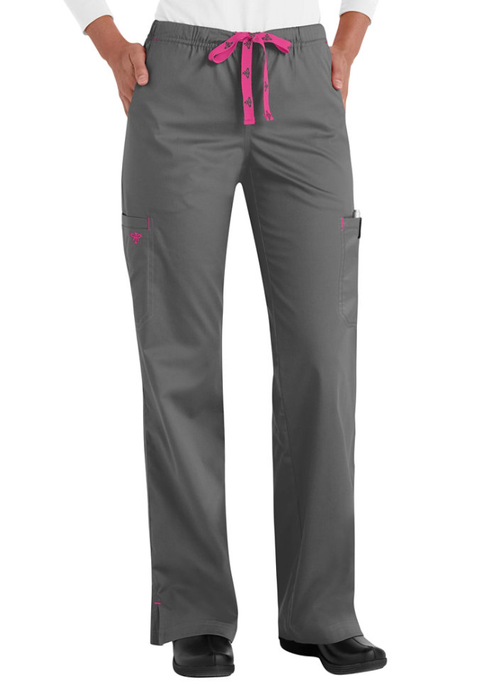 Med Couture Moda modern fit cargo scrub pants.
