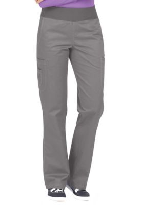 Med Couture MC2 Yoga Scrub Pants - Pewter/Purple Haze - PM 8752