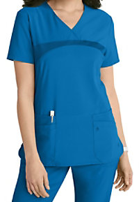 Urbane Performance Renew 4-pocket scrub top.