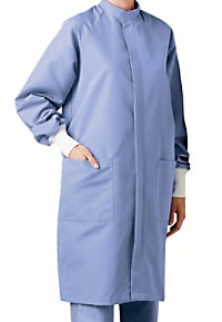 Landau uniforms unisex full length barrier lab coat.