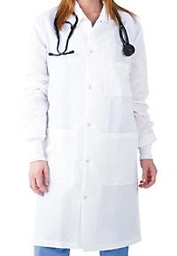 Landau uniforms unisex mid length barrier lab coat.
