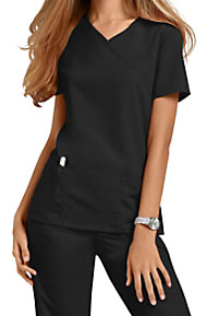Urbane Ultimate Sophie mock-wrap scrub top.