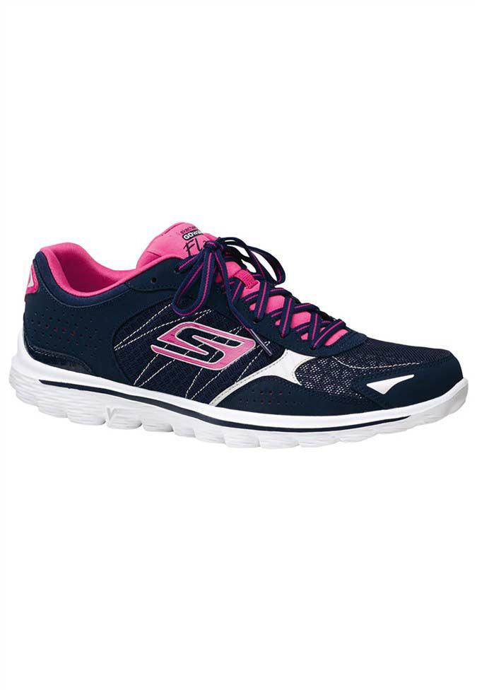 Skechers Go Walk 2 Flash women's athletic shoes.