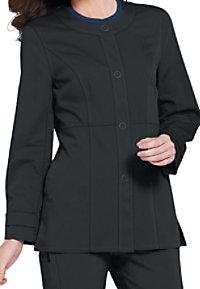 Urbane Ultimate Mindi snap-front scrub jacket.
