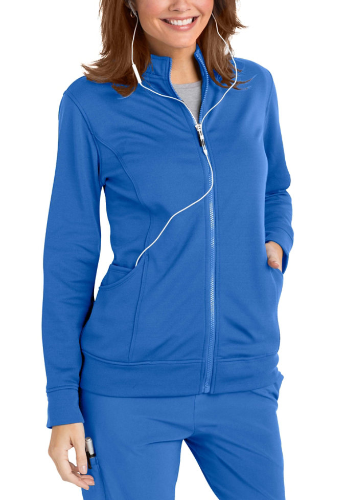 Urbane Performance fleece lined media scrub jacket.