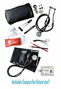 McCoy Medical Nursing kit with dissection tools.