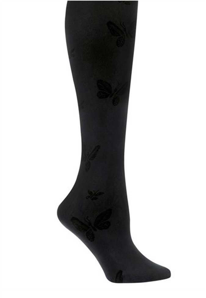 Nurse Mates 1-pack butterfly print compression trouser socks.