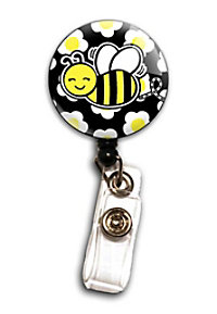 Initial This Bubble Bee badge holder.