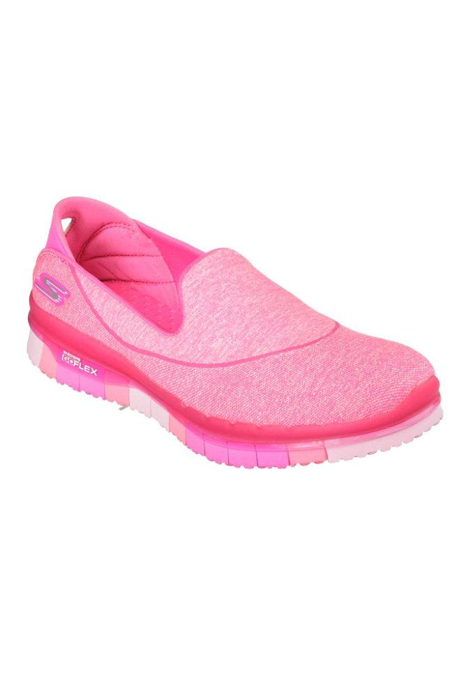 Skechers GO Flex slip-on shoes.