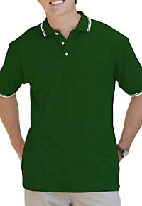 Blue Generation mens polo with tipped collar.