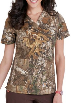 027cdde8b92 Carhartt Realtree womens v-neck print scrub top. - Realtree Xtra - XS