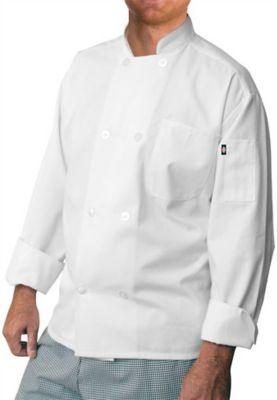 Dickies Chef 8 Button Chef Coat - White - S plus size,  plus size fashion plus size appare