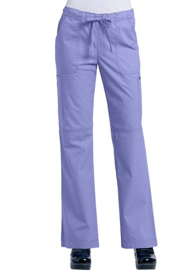 Ecko Tiffany drawstring flare-leg scrub pants.