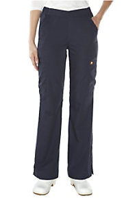 Orange Standard Catalina flat front cargo scrub pants.