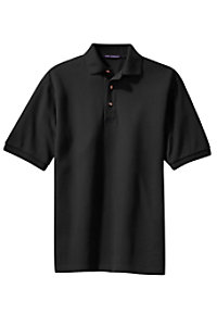 Port Authority pique knit short sleeve polo top.