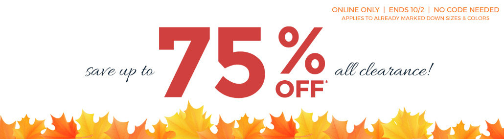 Prices are falling! 75% off all clearance